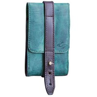 Piatto Satchelita Handmade Leather Phone Holster - Turquoise