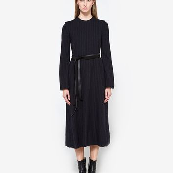 Maison Margiela / Long Sleeved Pinstripe Dress