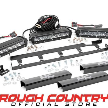 Jeep Wrangler JK 8-inch Chrome Series Vertical LED Light Bar Grille Kit (3 Lights) 2007 - 2018