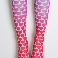 Living Royal Hearts Knee High Socks