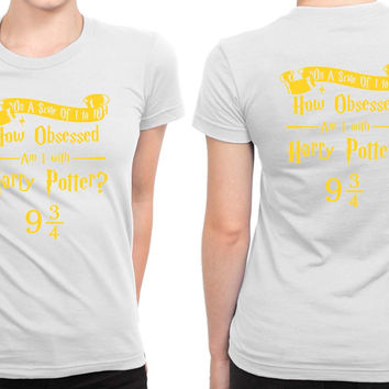 Harry Potter Obsession B 2 Sided Womens T Shirt