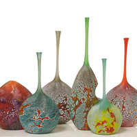 Elemental Series Bottles by David Royce (Art Glass Vessel) | Artful Home