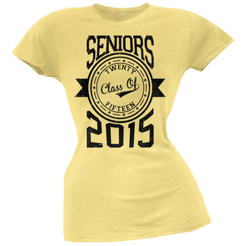 Graduation - Seniors 2015 Yellow Juniors Soft T-Shirt