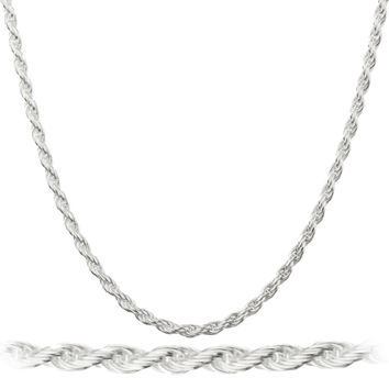 925 Sterling Silver 1.2mm Rope Chain (sterling-silver, 30 Inches)