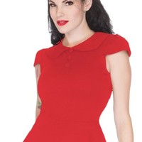 Women's Back To Basics Flare Cap Sleeve Top - Red