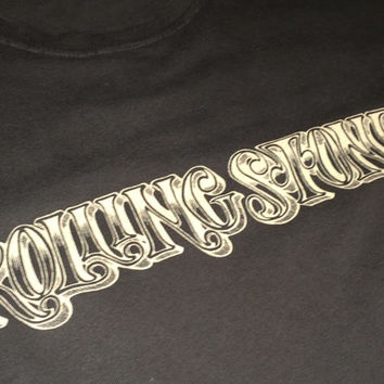 Sale!! Vintage Lucky Brand T Shirt ROLLING STONE cotton Tee Made in USA