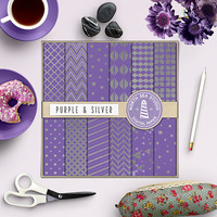 BUY5FOR8, Silver Digital Paper, Silver Foil Papers, Silver Patterns, Crafts, Card Making, Scrapbooking, Invites