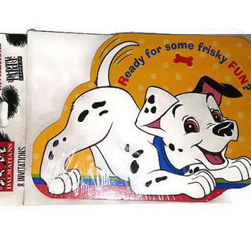 Vintage 101 Dalmatians Party Invitations with Envelopes Happy Birthday 8 Pack Puppy Dog Design