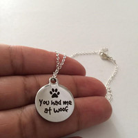 Dog Necklace, Silver Charm Necklace, Stainless Steel  Necklace,Birthday Gift, British Seller UK