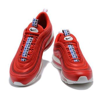 Nike Air Max 97 2018 new men and women fashion casual sports shoes F Red
