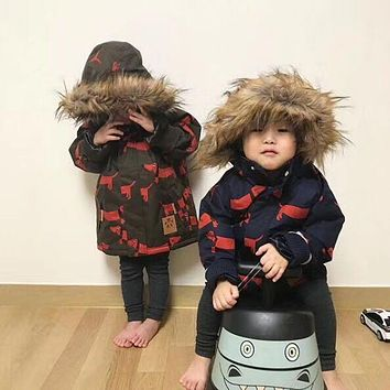 Pre-sale 2017 winter kids panda jackets coat boy clothes boys clothing vestido GIRLS clothing penguin coat christams gift BABY