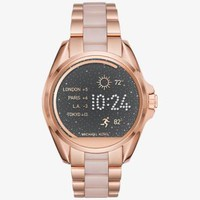 Michael Kors Access Bradshaw Rose Gold-Tone and Acetate Smartwatch | Michael Kors