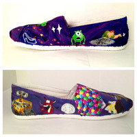 Disney Pixar Themed TOMS shoes Hand painted