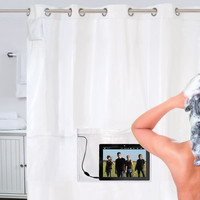 The iPad Musical Shower Curtain - Hammacher Schlemmer