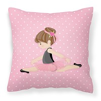 Ballerina Brunette Jete Fabric Decorative Pillow BB5174PW1818