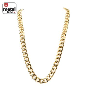 "Jewelry Kay style Men's Heavy 15 mm 14K Gold Plated Stainless Steel 30"" Cuban Link Chain Necklace"