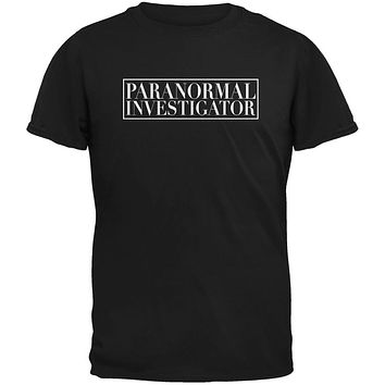 Halloween Paranormal Investigator Black Adult T-Shirt