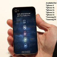 Divergent Symbol - Print on cover for iPhone and Samsung Galaxy Models