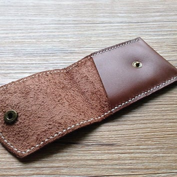Slim card wallet, front pocket wallet, custom leather wallet, leather card case, card holder leather, credit card organizer/case/sleeve
