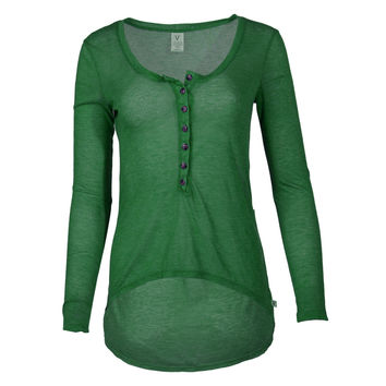 Adams- Women's Long Sleeve tee with Buttons