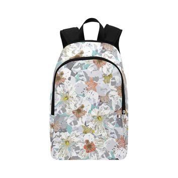 Cherry Blossoms In The Sky Fabric Backpack