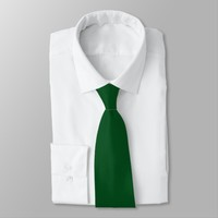 Deep Green Solid Color Neck Tie