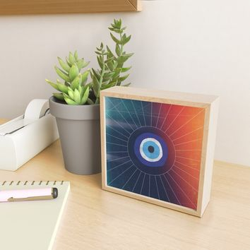 Evil Eye Framed Mini Art Print by duckyb