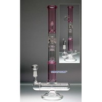 Glass Bongs : Hybrid Bio Stand Up Inline Glass Bong Pink