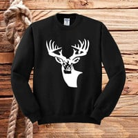 deer on camo sweater unisex adults