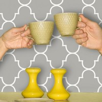 Classic Trellis Print Wallpaper - Silly Putty | www.hayneedle.com