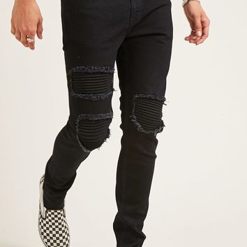 Moto Distressed Skinny Jeans