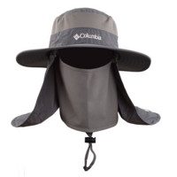 Dark Gray Fashionable Unisex Outdoor Summer Fishing Hat With Neck Face Curtain Cycling Breathable Visors