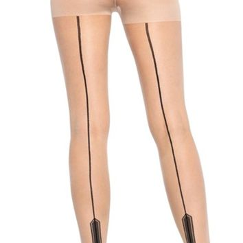 Sheer Havana Heel Pantyhose in Nude | Blame Betty
