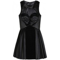Versus Dress - Satin Dress With Cut-out