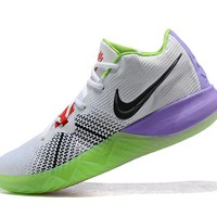 NIKE ZOOM ASSERSION EP Kyrie 3 White/Red/Green/Purple Basketball Shoe
