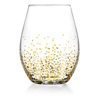 Gold Luster Stemless Glasses, Set of 4, Wine Glasses