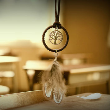 3X Unique Dreamcatcher Key Ring Feather Beads Charms Dream Catcher Key Chain