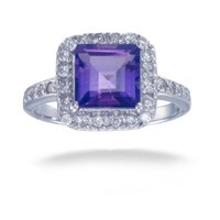 Vir Jewels Sterling Silver Amethyst Ring (1.50 CT)