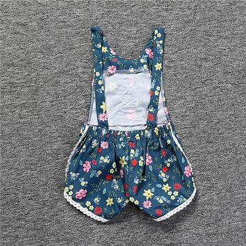 Baby children's boutique clothes for newborns girls clothes vintage floral girls jumpsuit