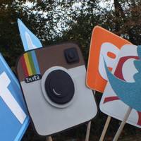 Social media photo booth props: facebook and friends      1 dollar shipping