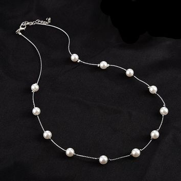 Long Necklace for Women Fashion Simulated Pearl Jewelry Tassel Necklaces & Pendants Bijoux wholesale
