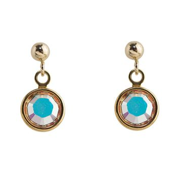 Iridescent Crystal Drops Studs Earrings