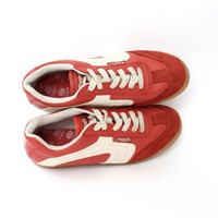 EU 40 - Red Dockers sneakers - red white sports shoes - soccer / tennis - size UK 6.5 / US 7.5 - sport sneakers / trainers