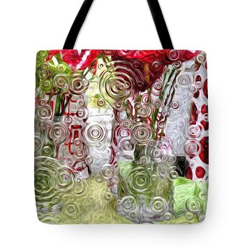 """Abstract - Christmas Ripple Tote Bag for Sale by Liane Wright (18"""" x 18"""")"""