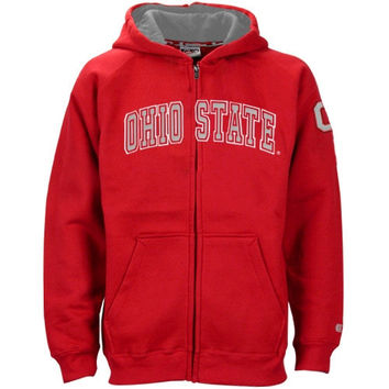 Ohio State Buckeyes Youth Automatic Full Zip Hoodie - Scarlet - http://www.shareasale.com/m-pr.cfm?merchantID=7124&userID=1042934&productID=544538885 / Ohio State Buckeyes