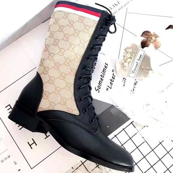 GUCCI new round head with women's high boots