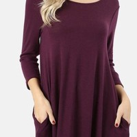 Sweater Dress With Pockets
