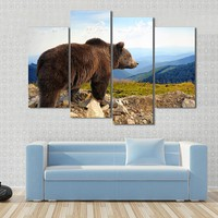 Big Brown Bear In The Mountain Canvas