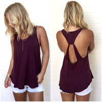 Usual Suspect Jersey Tank In Plum
