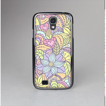 The Vibrant Color Floral Pattern Skin-Sert Case for the Samsung Galaxy S4